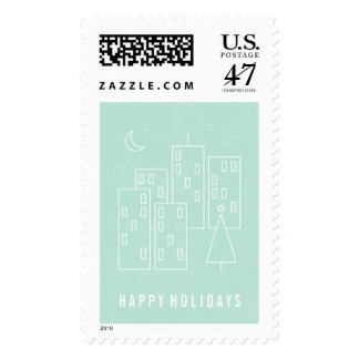 Christmas in the City Postage Stamp - Mint