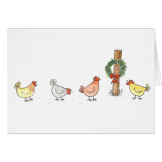 Christmas In The Coop Card