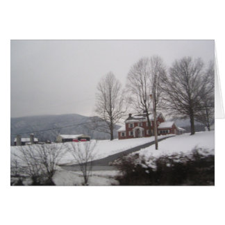 Christmas in the country country home greeting card