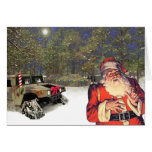 Christmas in the field. greeting card