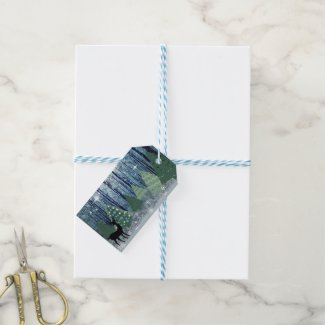 Christmas in the Forest Design Gift Tag