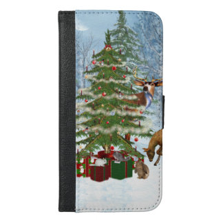 Christmas In The Forest iPhone 6/6s Plus Wallet Case