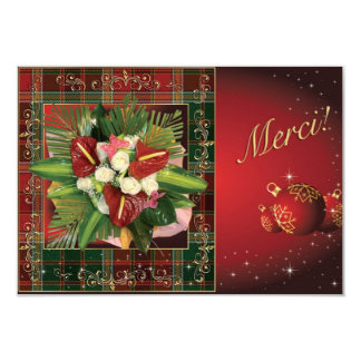 Christmas in the islands, chart of thanks card