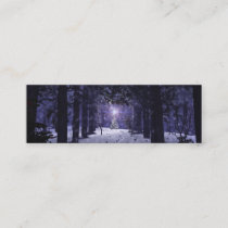 Christmas in the Pines Bookmarks Mini Business Card