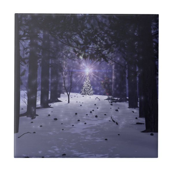 Christmas in the Pines Decorative Tile / Trivet