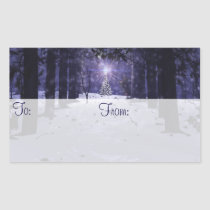 Christmas in the Pines Gift Tag Stickers