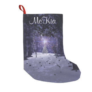 Christmas in the Pines Stocking Small Christmas Stocking