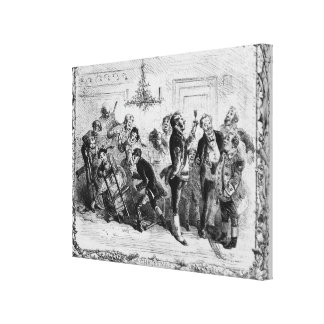 Christmas in the Servant's Hall Canvas Print