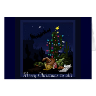 Christmas in the southwest lit up cactus card