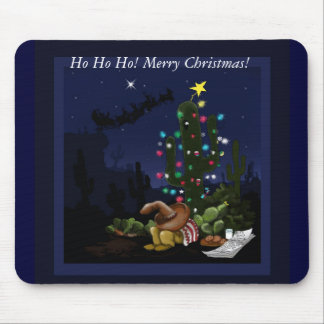 Christmas in the southwest lit up cactus mouse pads