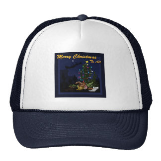 Christmas in the southwest lit up cactus trucker hat