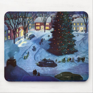 Christmas in the Town Square Mouse Pad