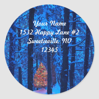 Christmas in the Woods Address Sticker