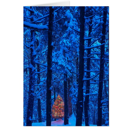 Christmas in the Woods Card