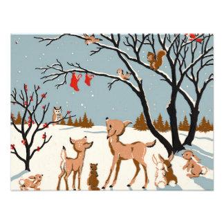 Christmas in the Woods Custom Invite
