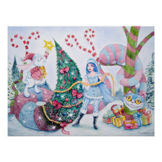 """""""Christmas in Wonderland"""" Perfect Poster"""