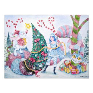 """Christmas in Wonderland"" Photographic Print Cojinete"
