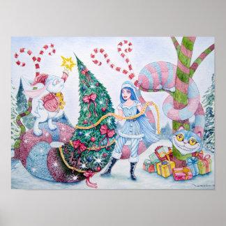 """Christmas in Wonderland"" Poster Póster"