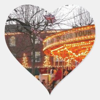 Christmas in York Heart Sticker