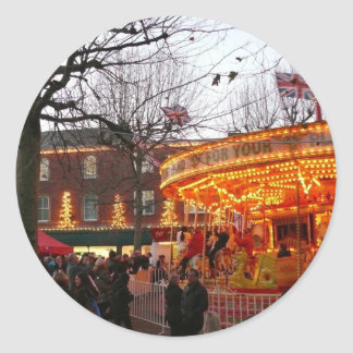 Christmas in York Round Stickers