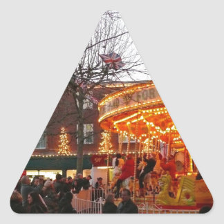 Christmas in York Triangle Stickers