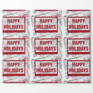 Christmas Income Tax Forms Wrapping Paper