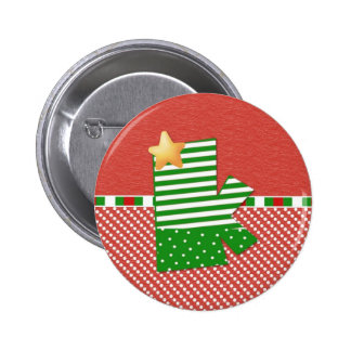 Christmas Initial K 2 Inch Round Button