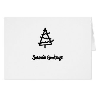 Christmas ink stamps card