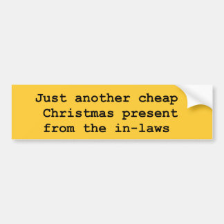 christmas inlaws bumper stickers