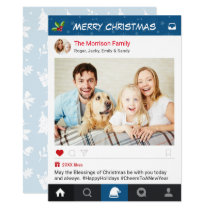 Christmas Instagram Frame Holiday Greetings Photo Card