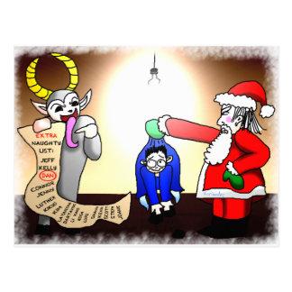 Christmas Interrogation Postcard