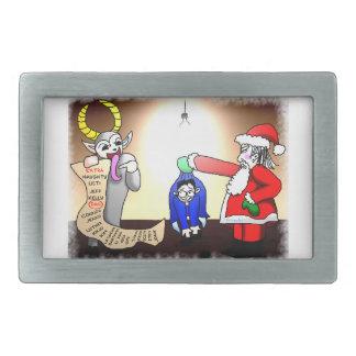Christmas Interrogation Rectangular Belt Buckle