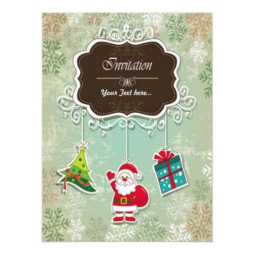 "Christmas Invitation Card Convite 16.51"" X 22.22cm"