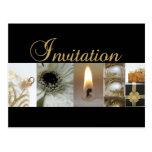 Christmas Invitation Card Post Cards