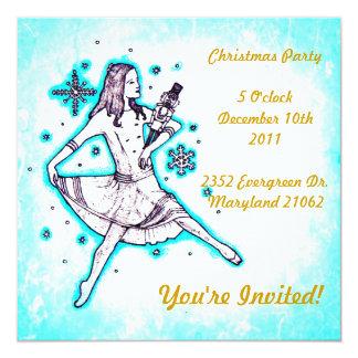 "Christmas Invitations 5.25"" Square Invitation Card"