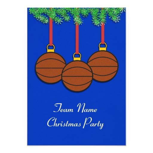 Christmas Invitations for Fastpitch Softball