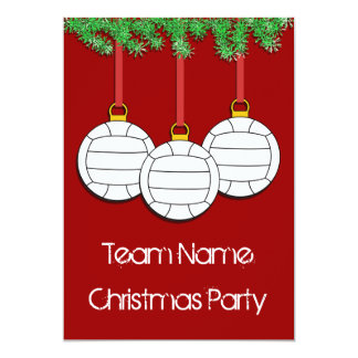 Christmas Invitations for Volleyball
