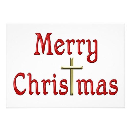 Merry Christmas Cross Christmas_invites-r4c644859c1b ...