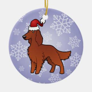 Christmas Irish / English / Gordon / R&W Setter Ornaments