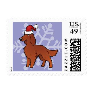 Christmas Irish / English / Gordon / R&W Setter Postage
