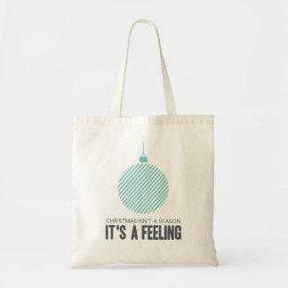 Christmas is a Feeling | Blue Tote Bag