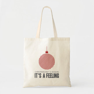 Christmas is a Feeling | Red Tote Bag