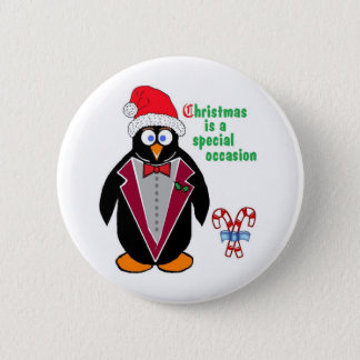 Christmas is a special occasion - Chritmas penguin Pinback Button