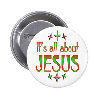 Christmas is about Jesus Button