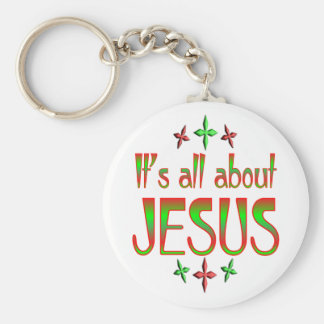 Christmas is about Jesus Keychain