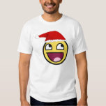 Christmas is Awesome Epic Smiley Face T-Shirt