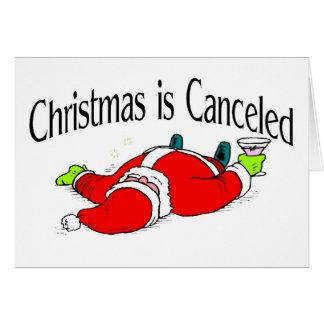 Christmas Is Canceled Drunk Santa Greeting Card