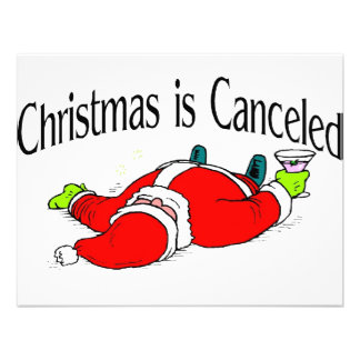 Christmas Is Canceled Drunk Santa Personalized Invite
