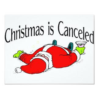 Christmas Is Canceled Drunk Santa 4.25x5.5 Paper Invitation Card