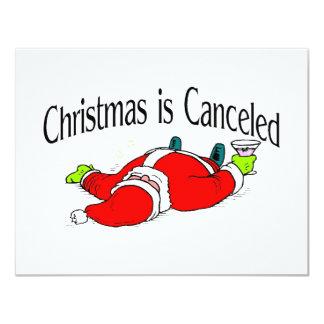 Christmas Is Canceled Santa 4.25x5.5 Paper Invitation Card